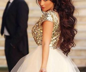 dress, hair, and pretty image