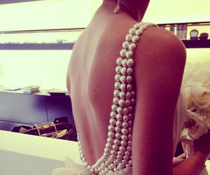 fashion, dress, and pearls image