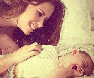 baby, mom, and mother image