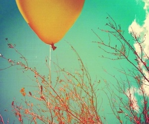 balloons, blue, and nature image