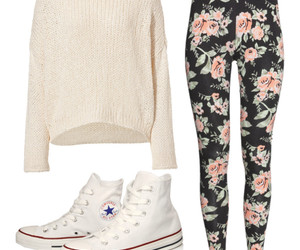 converse, outfit, and sweater image