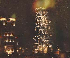 Dubai, fireworks, and grunge image