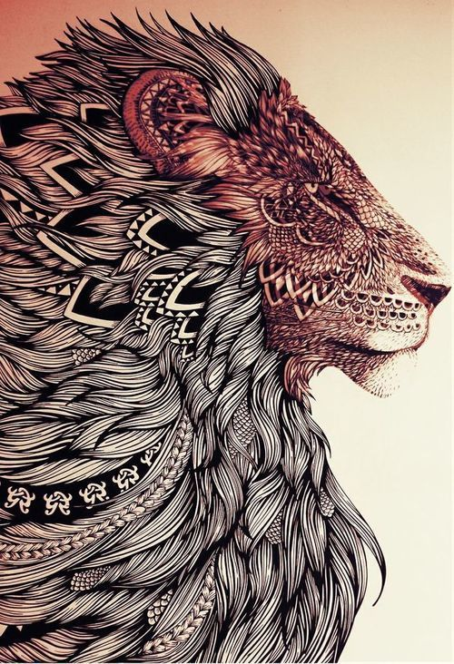 Trippy Lion Discovered By Mollysmom124 On We Heart It
