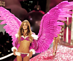 pink, Victoria's Secret, and angel image