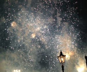 fireworks, stars, and lights image