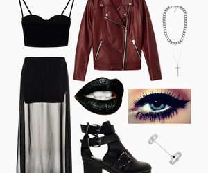 clothes, necklace, and outfit image