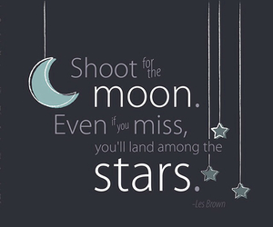 moon, stars, and quotes image