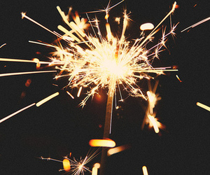 fireworks, happy new year, and sparkler image