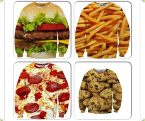 cool, food, and sweater image