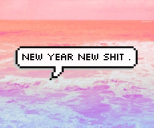 new year, shit, and quote image