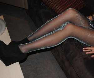 dress, shiny, and tights image