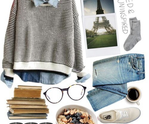 paris, glasses, and outfit image
