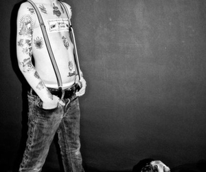 boy, child, and dog image