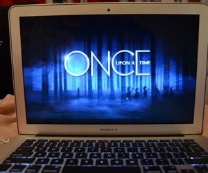 laptop, macbook air, and once upon a time image