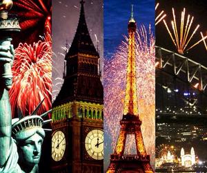fireworks, paris, and london image