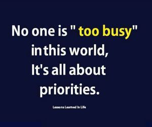 quote, life, and priorities image