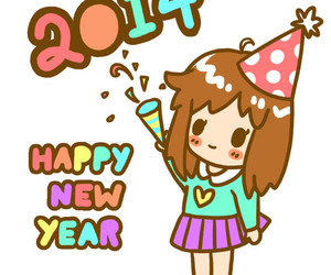 new year, 2014, and cute image