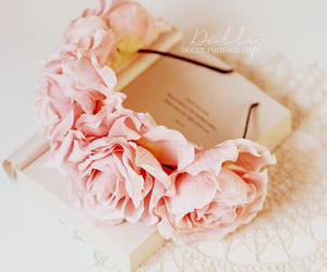 book, floral, and pink image