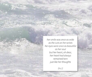 cutting, depressing, and sea image
