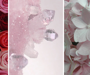 flowers, pink, and crystal image