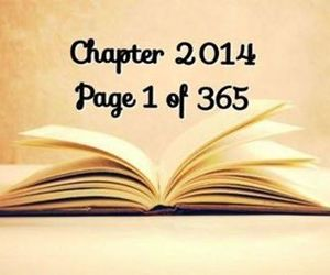 2014, new year, and book image