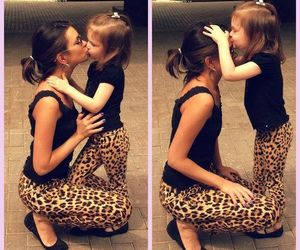 kiss, mom, and daughter image