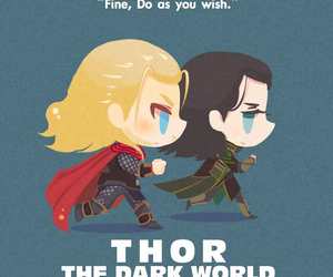 thor, loki, and the dark world image