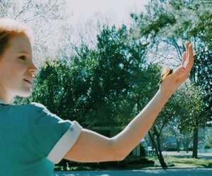 girl, butterfly, and jessica chastain image