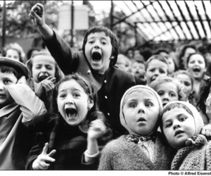 children, crowd, and screaming image