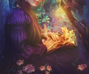 book, fantasy, and butterfly image