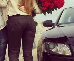 love, kiss, and car image