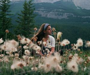 fashion, flowers, and gilr image