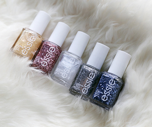 essie, nails, and glitter image