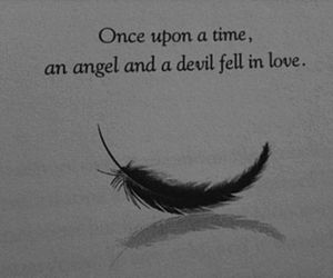 angel, love, and Devil image