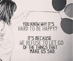 quote, happy, and sad image