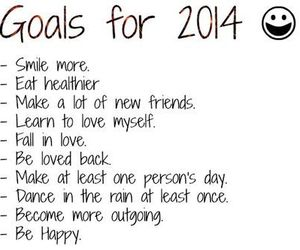 2014, goals, and new year image