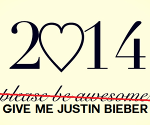 2014, justin bieber, and new year image