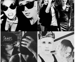 miley cyrus, justin bieber, and swag image