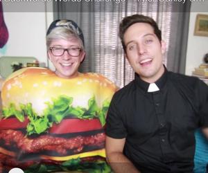 costumes, Halloween, and hamburger image