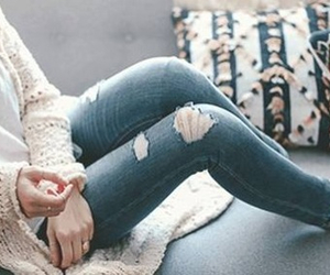 girl, jeans, and fashion image