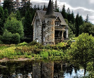 castle, scotland, and house image