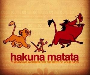 hakuna matata, lion king, and disney image