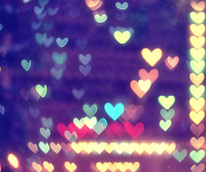 heart, hearts, and light image