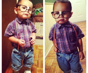 baby, costume, and glasses image