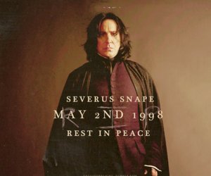 harry potter, rip, and severus snape image