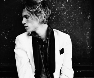 Jamie Campbell Bower, black and white, and boy image