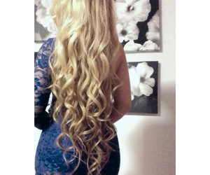 blonde, longhair, and curly image