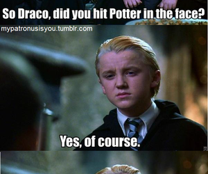 draco malfoy, harry potter, and potter image