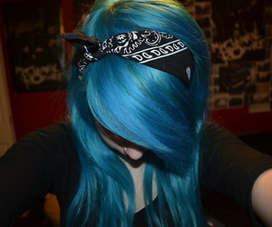blue, hair, and hair color image