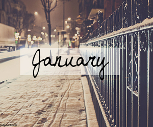 january, new year, and snow image